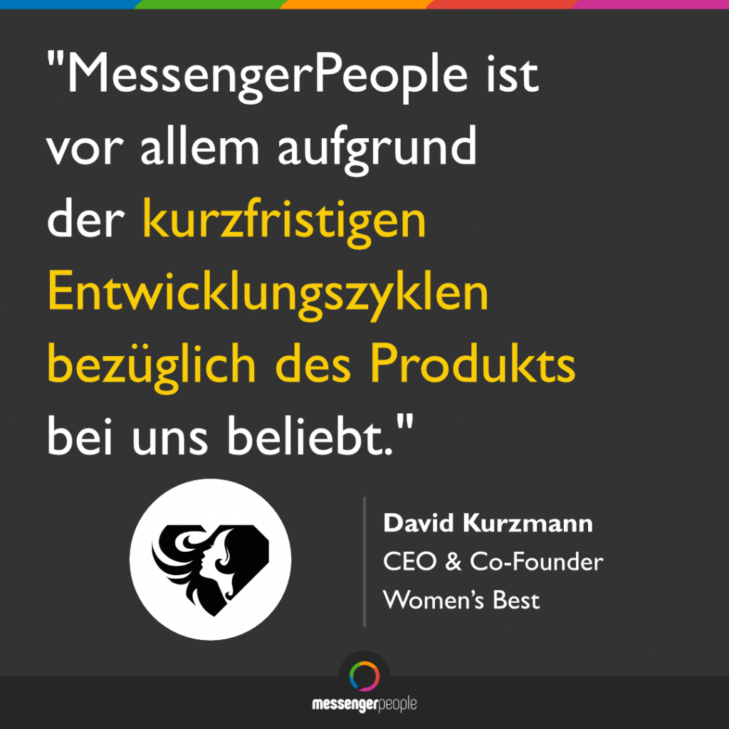 MessengerPeople Entwicklung Features