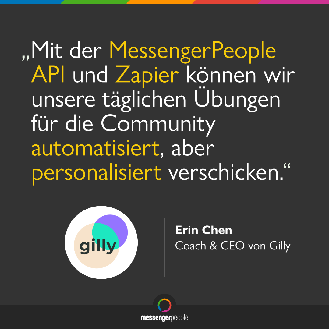 MessengerPeople API und Zapier integration