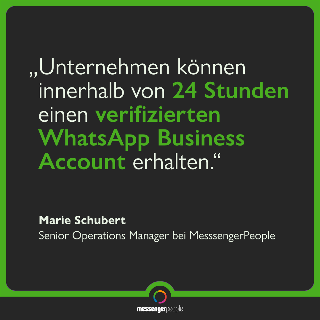 Verifizierung WhatsApp Business Account