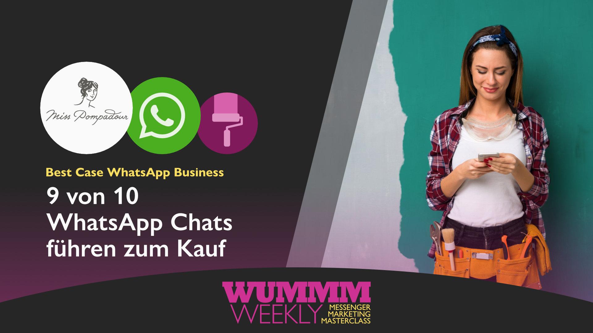 Wummm-weekly, Logo MissPompadour. Logo Whatspp, Best Case WhatsApp Business