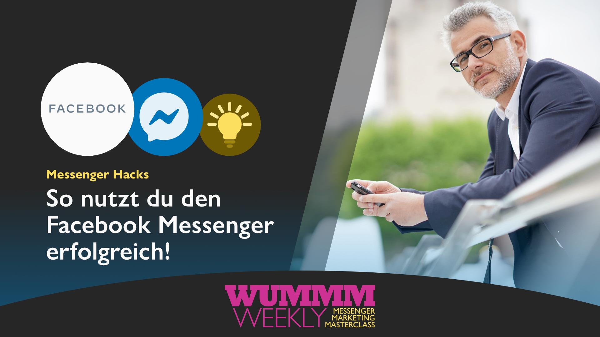 Wummm-weekly, Logo Facebook Messenger, Messenger Hacks, So nutzt du Facebook Messenger erfolgreich