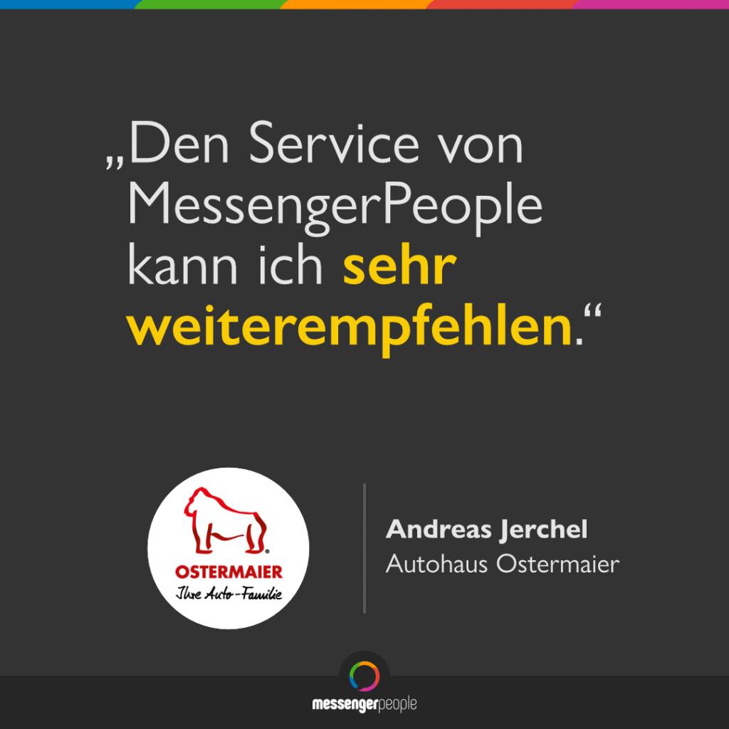 WhatsApp Software Autohaus Ostermaier MessengerPeople