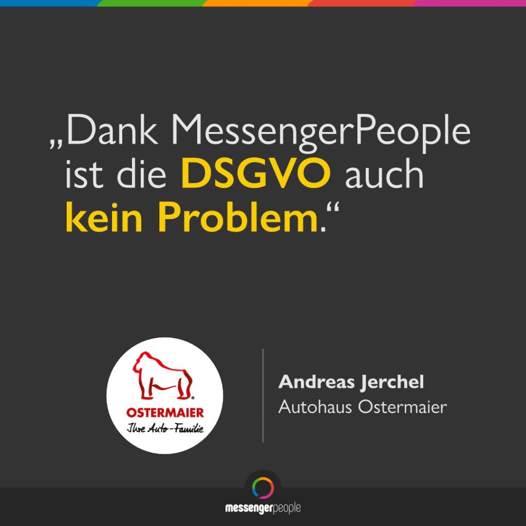 WhatsApp DSGVO-konform im Autohaus einsetzen mit MessengerPeople