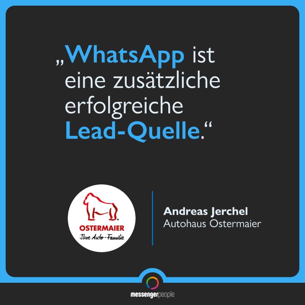 WhatsApp für Leadgenerierung im Autohaus