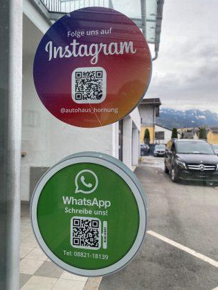 WhatsApp-Service Sticker Annahme Autohaus Hornung