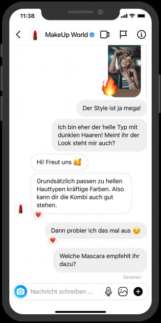 Instagram Messaging Beratung