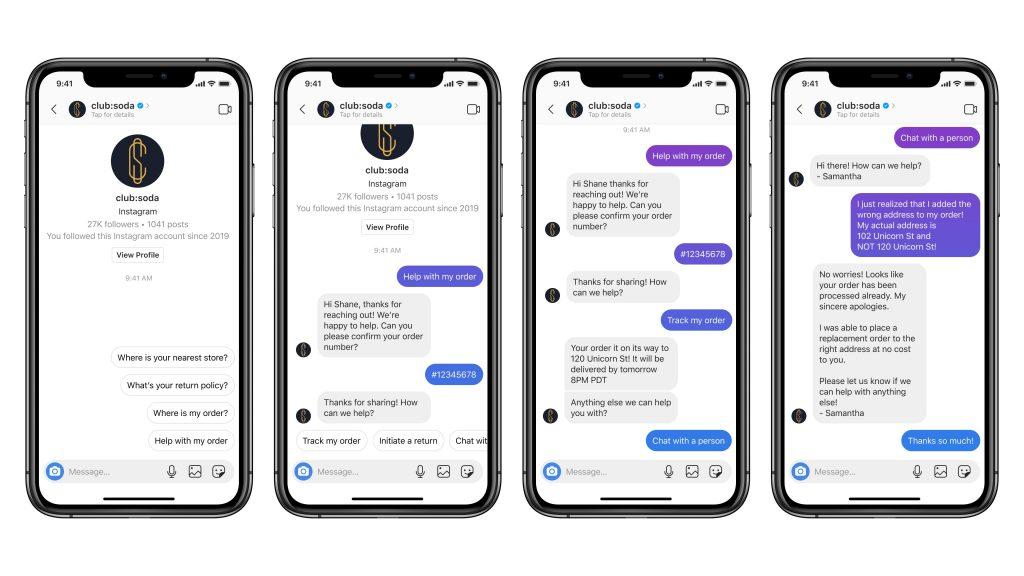 Instagram Direktnachrichten Kundenservice DM Chat Unternehmen