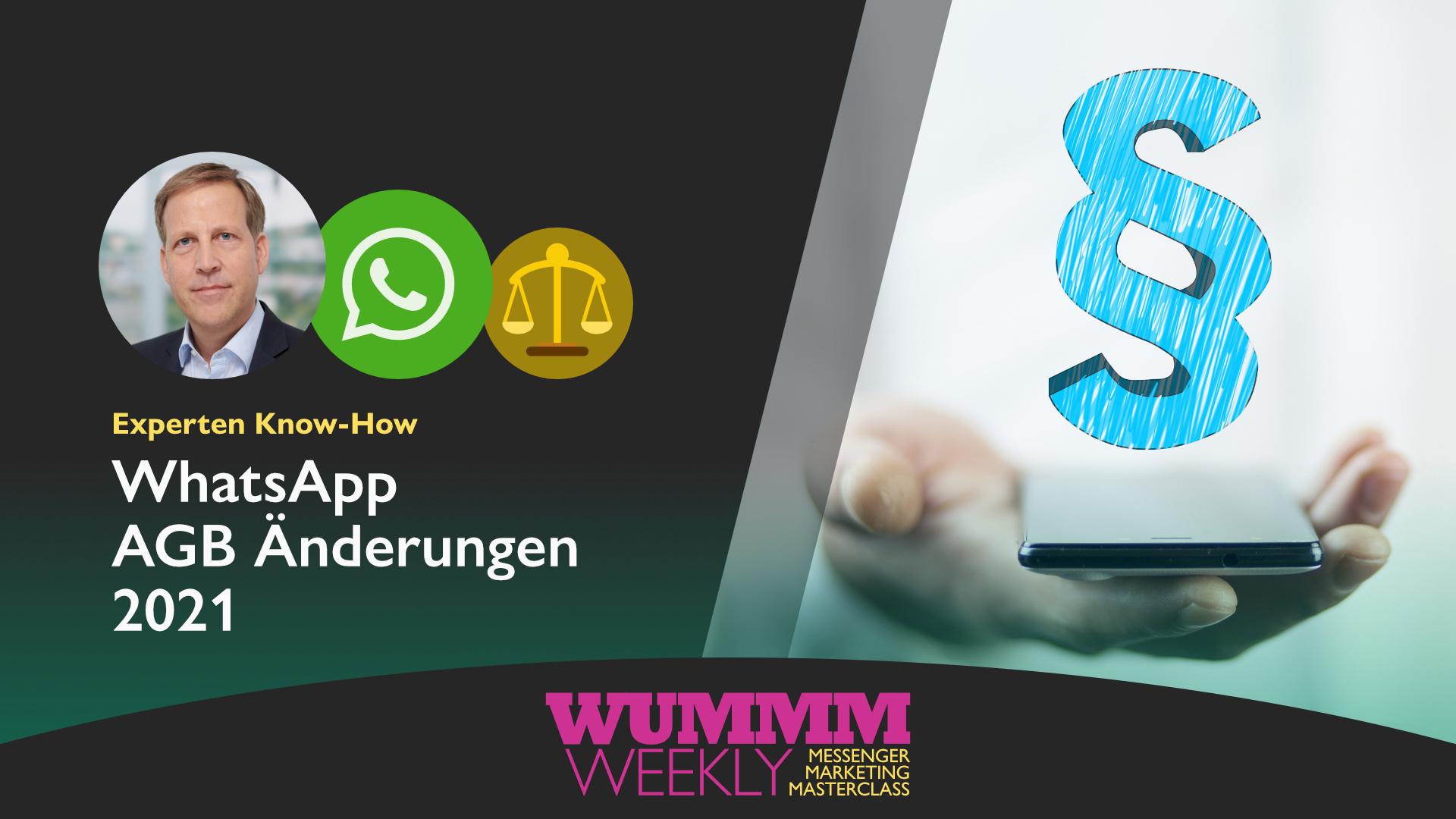 WhatsApp AGB Änderungen 2021