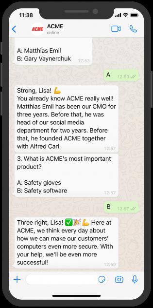 WhatsApp Chat ACME HR