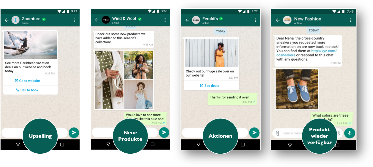 WhatsApp Promotional Messages WhatsApp Business Nachrichten Möglichkeiten