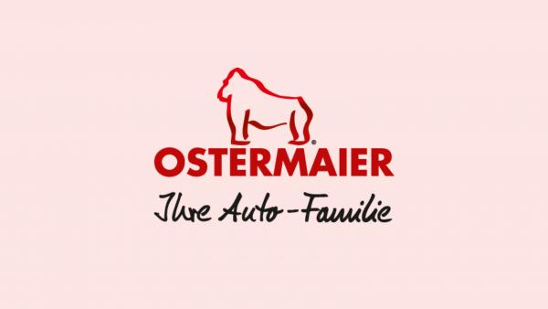 Logo Ostermaier roter Hintergrund