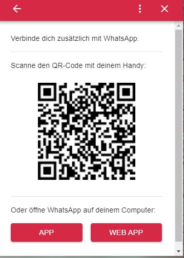 Webchat Livechat zu WhatsApp weiterleiten