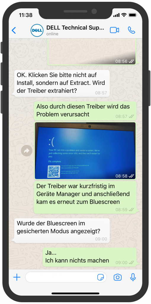 WhatsApp Business Beispiele: DELL Technical Support