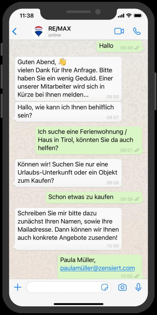 WhatsApp Business Beispiele: RE/MAX