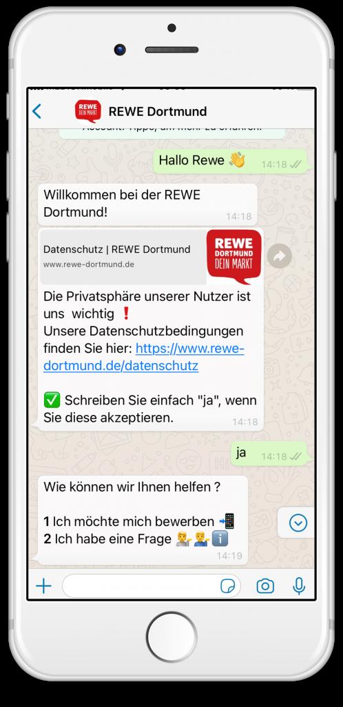 REWE HR Chatbot WhatsApp
