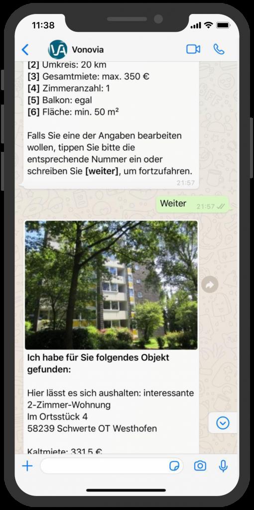 WhatsApp Business Beispiele: Vonovia