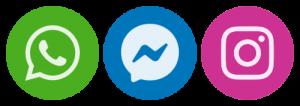 whatsapp logo facebook messenger logo instagram messaging logo