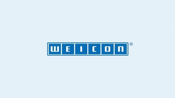 weicon logo blue background
