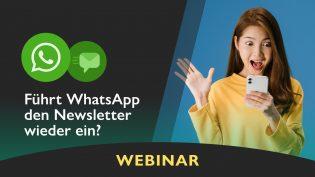 WhatsApp Newsletter verschicken