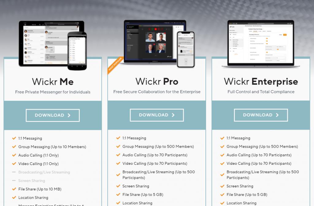 wickr für Unternehmen Download