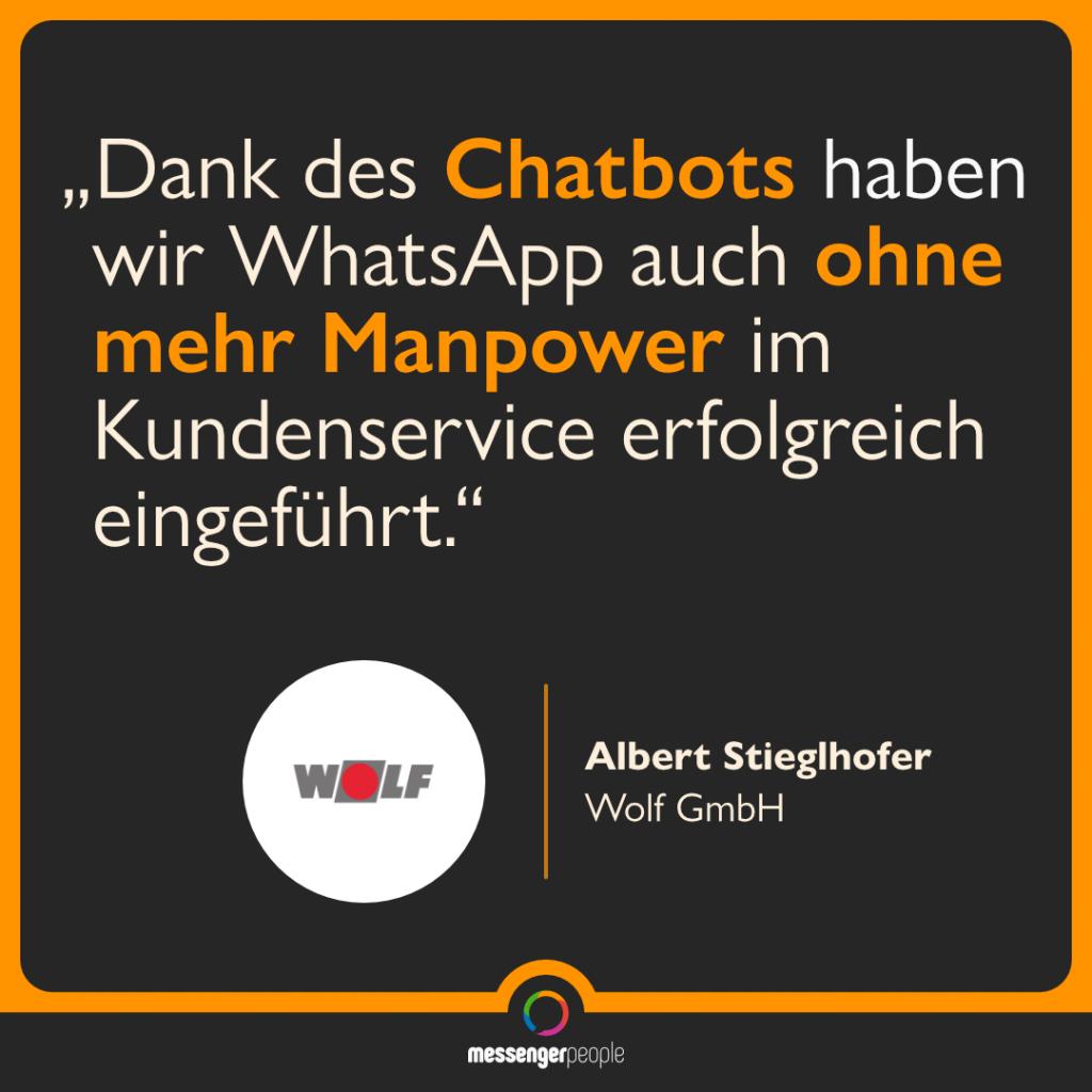 Dank Chatbot WhatsAppp ohne großen Aufwand eingeführt